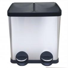 Урна для раздельного сбора мусора Санакс 10230, нержавеющая сталь, 30 литров