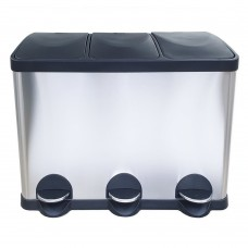 Урна для раздельного сбора мусора Санакс 10245, нержавеющая сталь, 45 литров