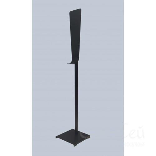 Мобильная стойка для дезинфекции рук черная