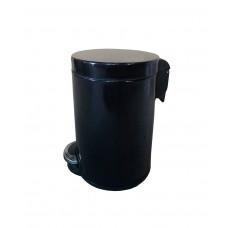 Урна Binele Lux WP05LB, 5л, педаль, черная