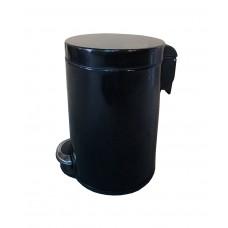 Урна Binele Lux WP12LB, 12л, педаль, черная