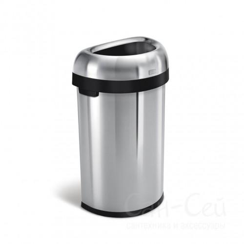 Контейнер для мусора Simplehuman, CW1468-SH, 60 л, матовый, полукруглый