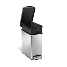 Урна с педалью Simplehumor CW1180-SH, прямоугольная, 10 литров, с пластиковой крышкой