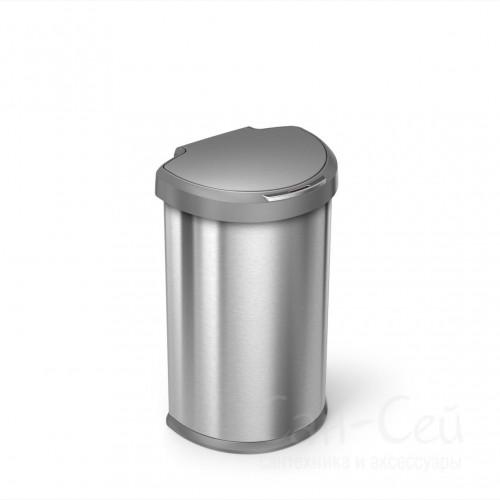 Ведро сенсорное Simplehuman ST2010-SH, серый металлик, 45 литров