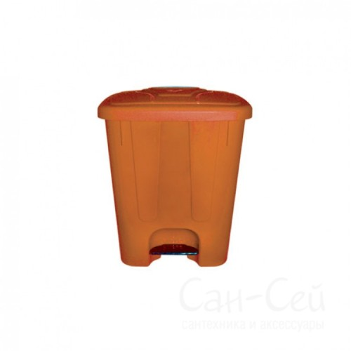 Мусорный бак Telkar пластиковый, с крышкой и педалью, 25 литров