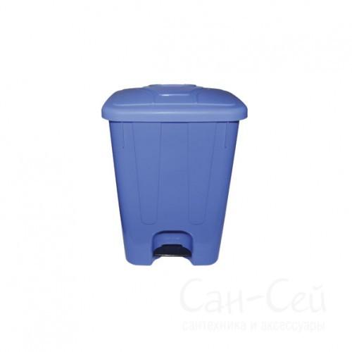 Мусорный бак Telkar пластиковый, с крышкой и педалью, 40 литров