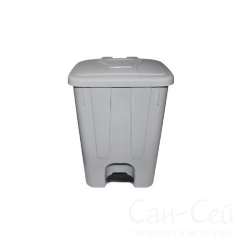 Мусорный бак Telkar пластиковый, с крышкой и педалью, 65 литров