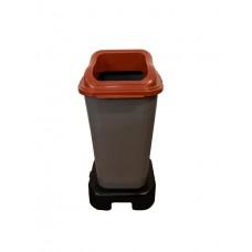 Контейнер для раздельного сбора мусора Telkar 70 литров, на подставке, без колес