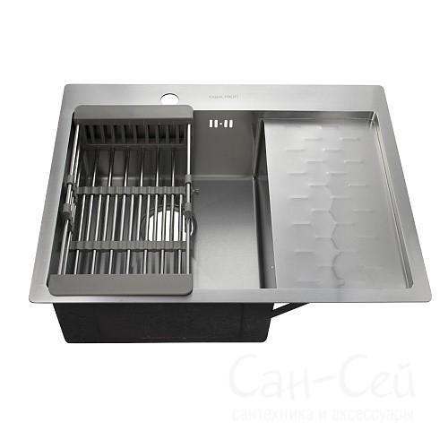 Мойка для кухни FABIA PROFI врезная 63х50 левая 63503L