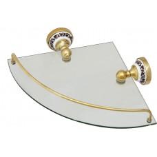Полка FIXSEN FX-78503AG GOLD BOGEMA стеклянная угловая