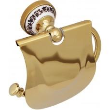 Держатель туалетной бумаги FIXSEN FX-78510G GOLD BOGEMA с крышкой