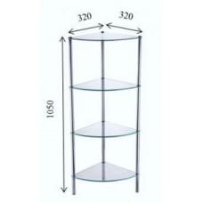 FIXSEN FX-9224 Угловая стеклянная этажерка четырехэтажная