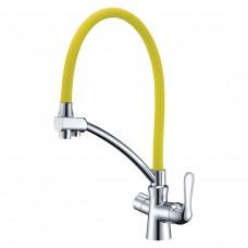 Смеситель Lemark Comfort LM3070C-Yellow для кухни  с подключением к фильтру с питьевой водой