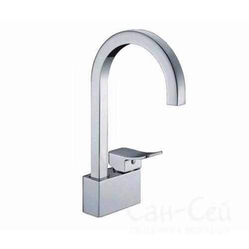 Смеситель для кухни WasserKRAFT Aller 1067WHITE, с поворотным изливом