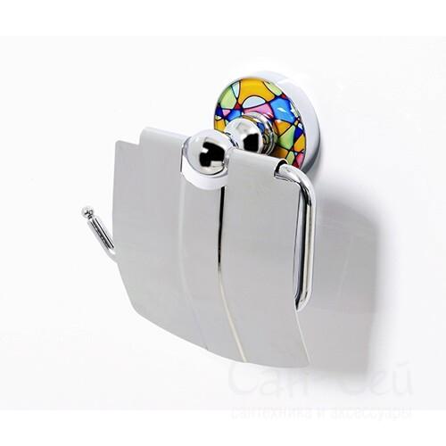 Держатель туалетной бумаги с крышкой WasserKRAFT Diemel K-2225