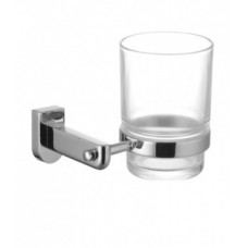 Стакан стеклянный для зубных щеток с настенным держателем Lemark Omega LM3136C