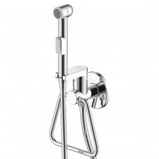 Смеситель одноручный Rossinka X25-55 (25 мм) с гигиеническим душем, встраиваемый с полотенцедержателем, хром