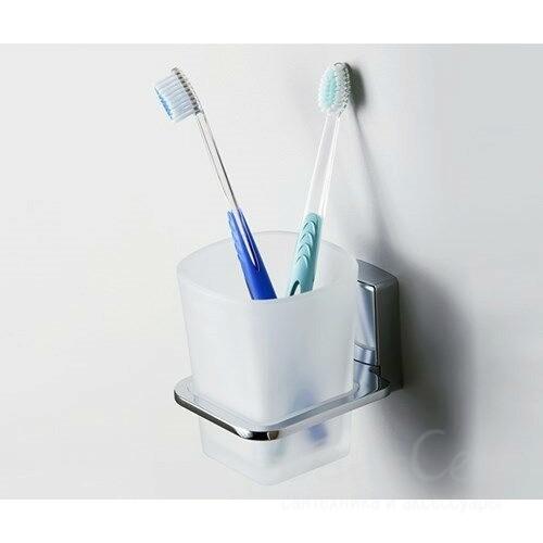Стакан для зубных щеток WasserKRAFT К-5028, стеклянный