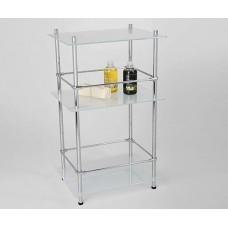 Полка напольная WasserKRAFT K-4033, стеклянная тройная, с бортиком