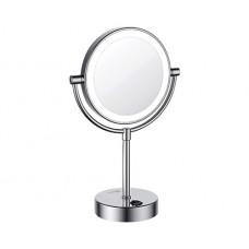 Зеркало WasserKRAFT K-1005 настольное, увеличительное, с LED-подсветкой, двухстороннее