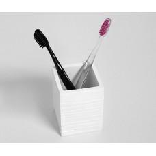 Стакан для зубных щеток WasserKRAFT Leine K-3828, белый