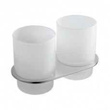 Подстаканник двойной IDDIS Mirro латунь матовое стекло (MIRMBG2I45)