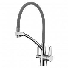 Смеситель Lemark Comfort LM3071C-Gray для кухни  с подключением к фильтру с питьевой водой
