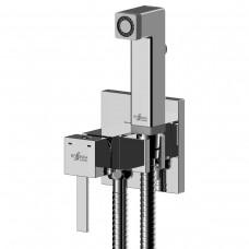 Смеситель одноручный Rossinka X25-53 (25 мм) с гигиеническим душем, встраиваемый, хром