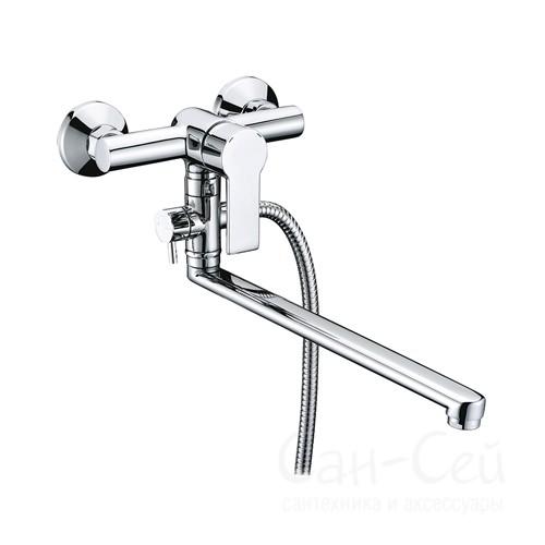 Смеситель для ванны WasserKRAFT Ammer 3702L,   с длинным изливом