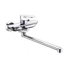 Смеситель для ванны WasserKRAFT Dinkel 5802L, с длинным поворотным изливом