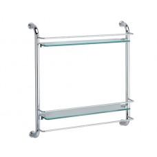 Полка WasserKRAFT K-2022, стеклянная двойная