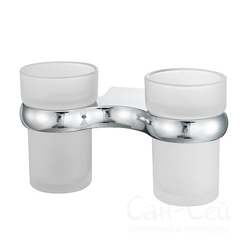 Подстаканник WasserKRAFT К-6828D, двойной стеклянный