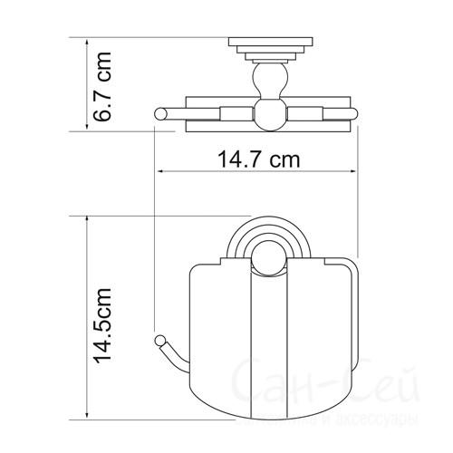 Держатель туалетной бумаги WasserKRAFT К-7025, с крышкой