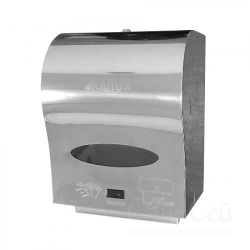Диспенсер рулонных полотенец Ksitex A1-21S, автоматический, блестящий