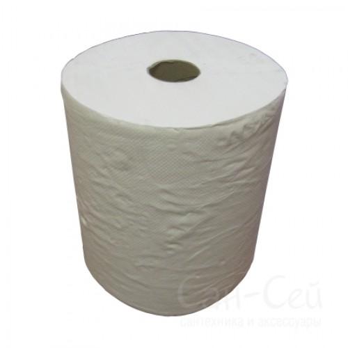 Бумажные полотенца Ksitex в рулонах двухслойные, без перфорации