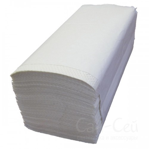 Листовые бумажные полотенца Ksitex однослойные, V-сложения