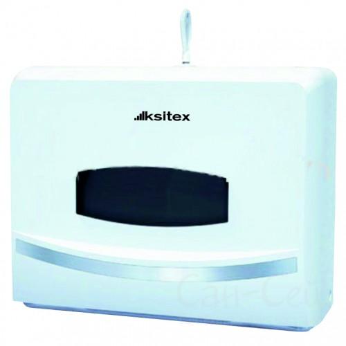 Диспенсер листовых полотенец Ksitex TH-8125A, Z-сложения, белый
