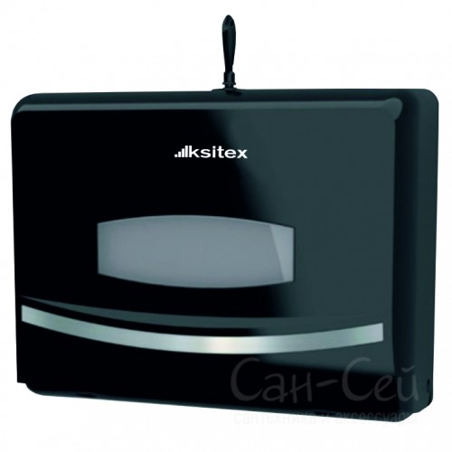 Диспенсер листовых полотенец Ksitex TH-8125B, Z-сложения, черный
