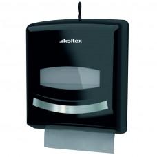 Диспенсер листовых полотенец Ksitex TH - 8238B, V-сложения,  черный