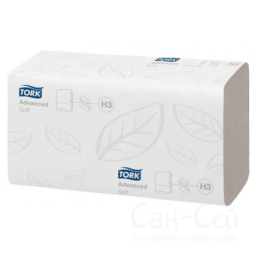 Бумажные полотенца Tork Singlefold 100278 H3 ультрамягкие (упаковка 15 пачек по 200 листов)