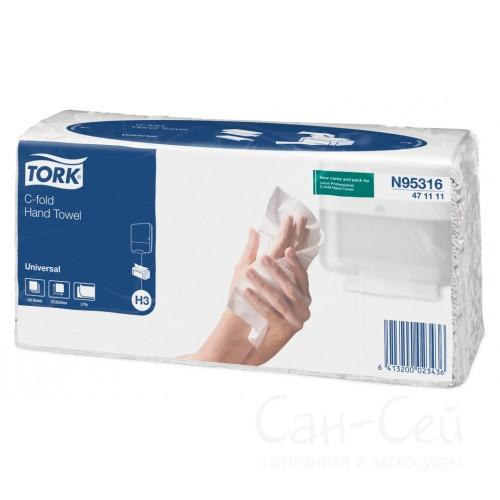 Бумажные полотенца Tork Singlefold 471111 H3 (упаковка 20 пачек по 120 листов)