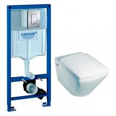 Комплект Jacob Delafon Escale E1306 + Система инсталляции для унитазов Grohe Rapid SL