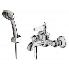 Смеситель для ванны с коротким изливом с аксессуарами Bravat Art F675109C-B