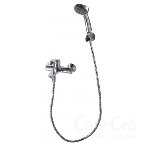 Смеситель для ванны с коротким изливом с аксессуарами Bravat Drop F64898C-B