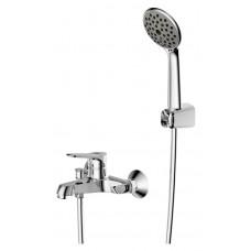 Смеситель для ванны с коротким изливом с аксессуарами Bravat Eco F6111147C-B