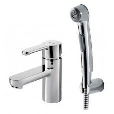 Смеситель для умывальника с гигиеническим душем Bravat Stream F13783C-3