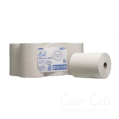 Бумажные полотенца Kimberly-Clark SCOTT SLIMROLL 6657 в рулонах