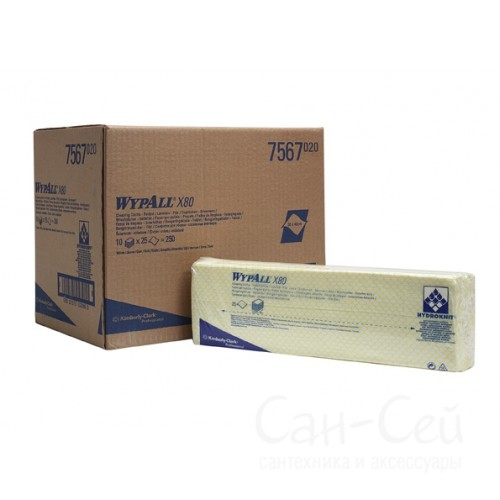Cалфетки протирочные нетканые WypAll  X80 7567