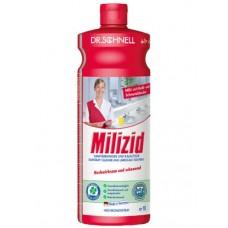 Кислотное средство для очистки санитарных зон MILIZID 1 л.