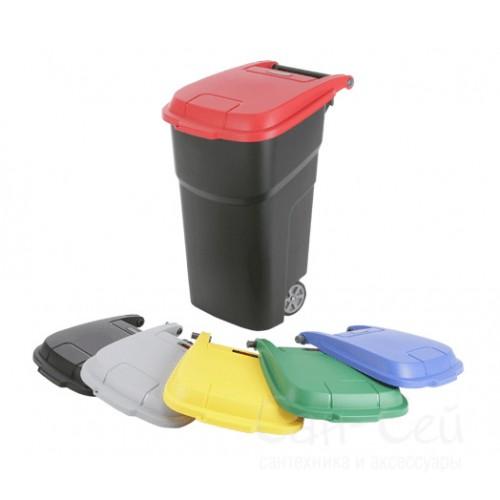 Контейнер для мусора Vileda Атлас 137764 пластиковый на колесах 100 л